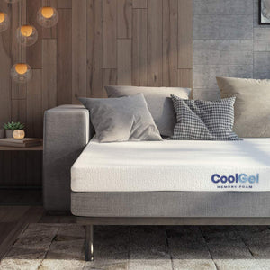 4.5-Inch Cool Gel Memory Foam Replacement Sleeper Sofa Bed Mattress, Queen, White
