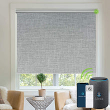 Load image into Gallery viewer, Motorized Blinds Blackout Fabric Automatic Shades Remote Control Cordless Room Darkening Window Blinds (Dark Grey)