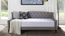 Load image into Gallery viewer, Lucy Upholstered Button Tufted Sofa Bed, Twin, Dark Navy Blue