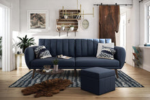 Load image into Gallery viewer, Brittany Sofa Futon - Navy Linen