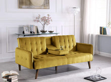 Load image into Gallery viewer, Cricklade Convertible Sofa Bed, Yellow