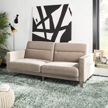 Load image into Gallery viewer, Livingston Collection Tribeca Grey Foldable Sofa Bed