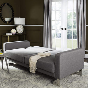 Livingston Collection Tribeca Grey Foldable Sofa Bed