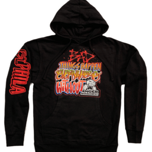 ANGER MANAGEMENT Bad Things Happen | Logo Hoodie | Black | Mens