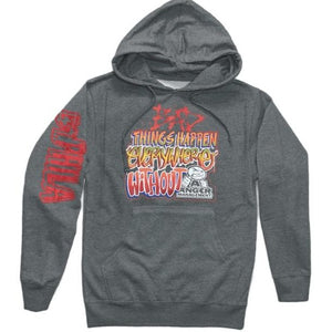 ANGER MANAGEMENT Bad Things Happen | Logo Hoodie | Gray | Mens