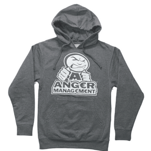 ANGER MANAGEMENT LifeStyle Iconic Logo Hoodie | Gray | Mens