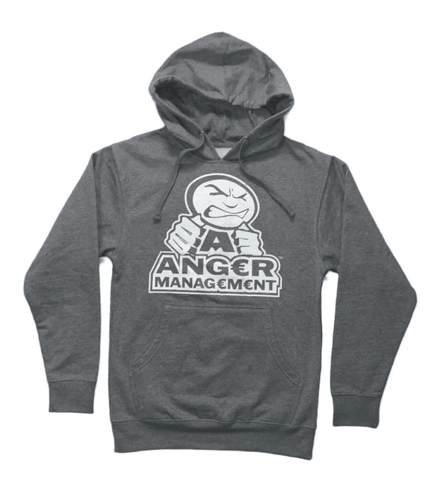 ANGER MANAGEMENT LifeStyle Iconic Logo Hoodie | Gray | Mens 1