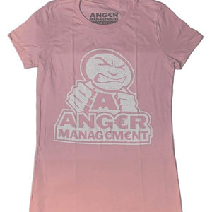 ANGER MANAGEMENT LifeStyle Iconic Logo Tee | Pink | Womens