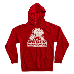 ANGER MANAGEMENT LifeStyle Iconic Logo Hoodie | Red | Mens