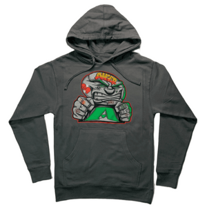 ANGER MANAGEMENT Coping Mechanisms | Logo Hoodie | Charcoal Gray | Mens