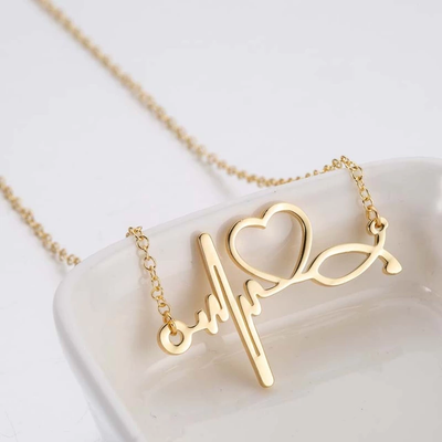 LOVE SIGNATURE HEART BEAT NECKLACE
