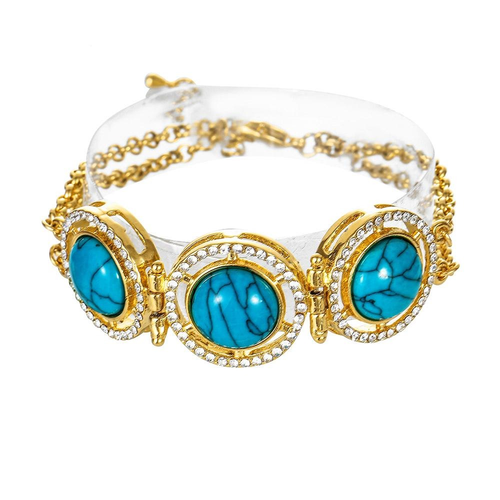 Crystal Turkish 18k gold plated Bracelet never faded