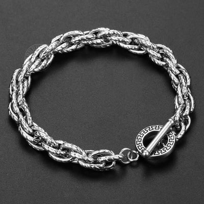 Gold Filled Stainless Steel Bracelet For Men Women Twisted Cable Link Chain Toggle Unique Design