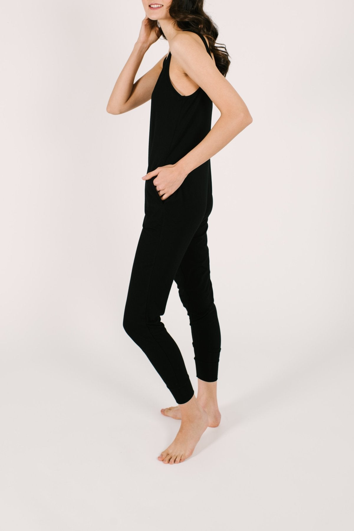 Smash+Tess Midnight Black Tuesday Romper