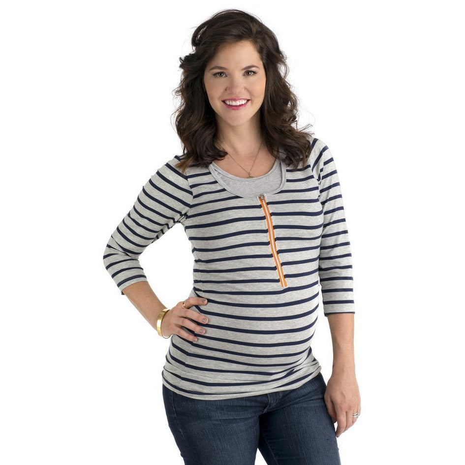 Striped Nursing Tee