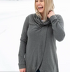 Bamboo Cross Front Sweater