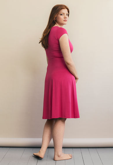 Boob Twist Dress with Cap Sleeve