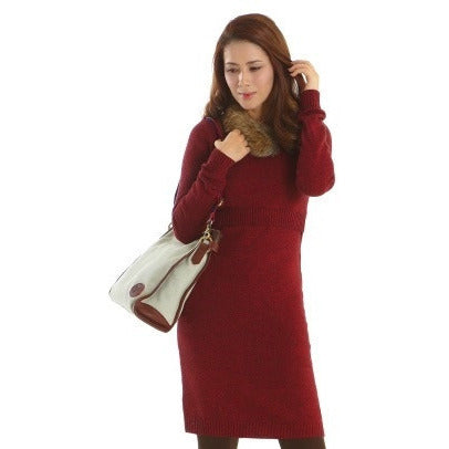 Marled Nursing Sweater Dress