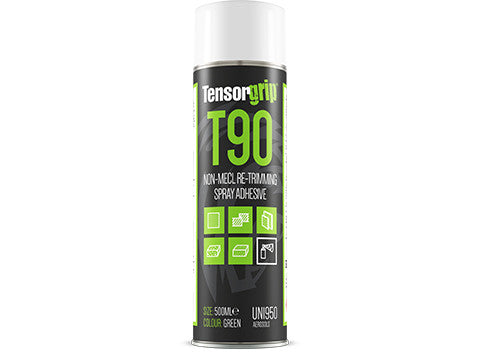 TensorGrip T90 Non-MECL Re-Trimming Spray Adhesive 500ml Aerosol Green