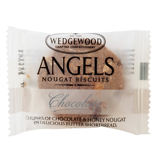 Wedgewood Nougat Angels Honey Nougat Biscuits - Belgian Chocolate Single Serving 10g (Box of 60)