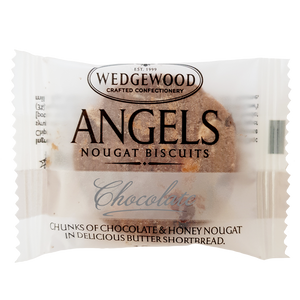 Angels Honey Nougat Biscuits - Belgian Chocolate Single Serving 10g (Box of 60)