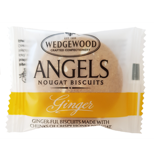 Wedgewood Nougat Angels Honey Nougat Biscuits - Ginger Single Serving 10g (Box of 60)
