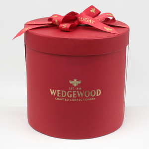 Wedgewood Handmade Honey Nougat 120 x Strawberry and White Chocolate Bon Bons - Medium Hatbox