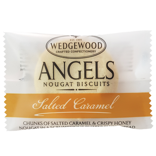 Wedgewood Nougat Angels Honey Nougat Biscuits - Salted Caramel Single Serving10g (Box of 60)