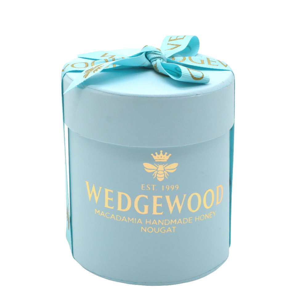 Wedgewood Christmas Bonbonniere Hat Box -Small - Handmade Honey Milk Belgian Chocolate and Almond Nougat, 20 x  Bon Bons