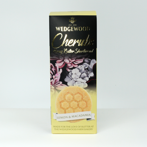 Wedgewood Nougat Cherubs All Butter Honey Shortbread Biscuits - Lemon and Macadamia 150g