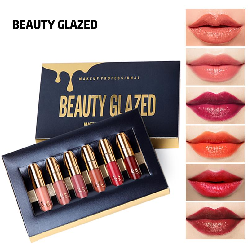Kit 6 Batom Beauty Glazed -