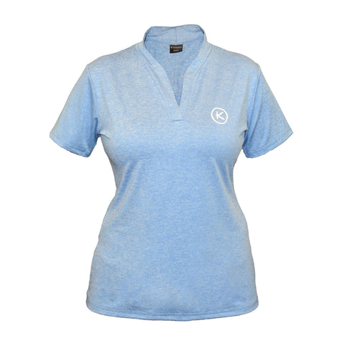 Women's Mandarin Polo, Light Blue