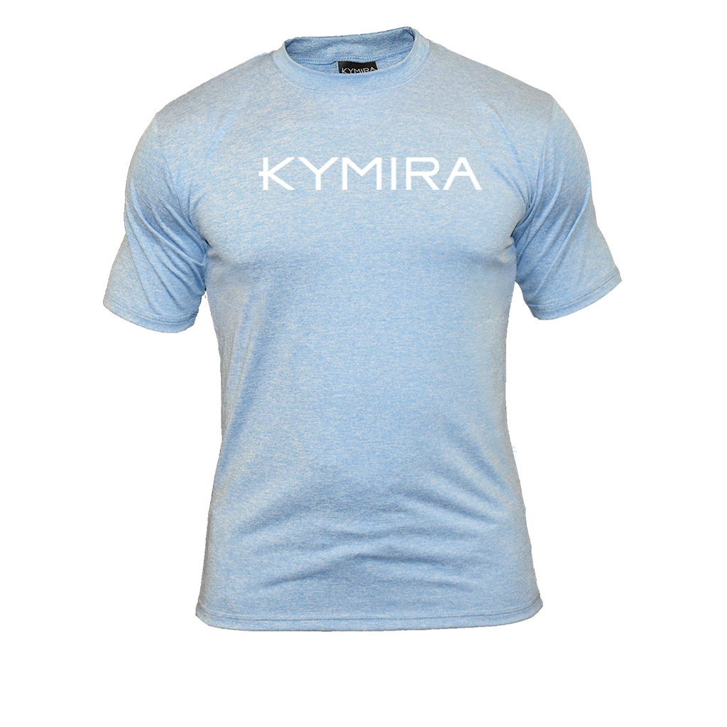 Men's Crew Marle T-Shirt in Light Blue with Logo
