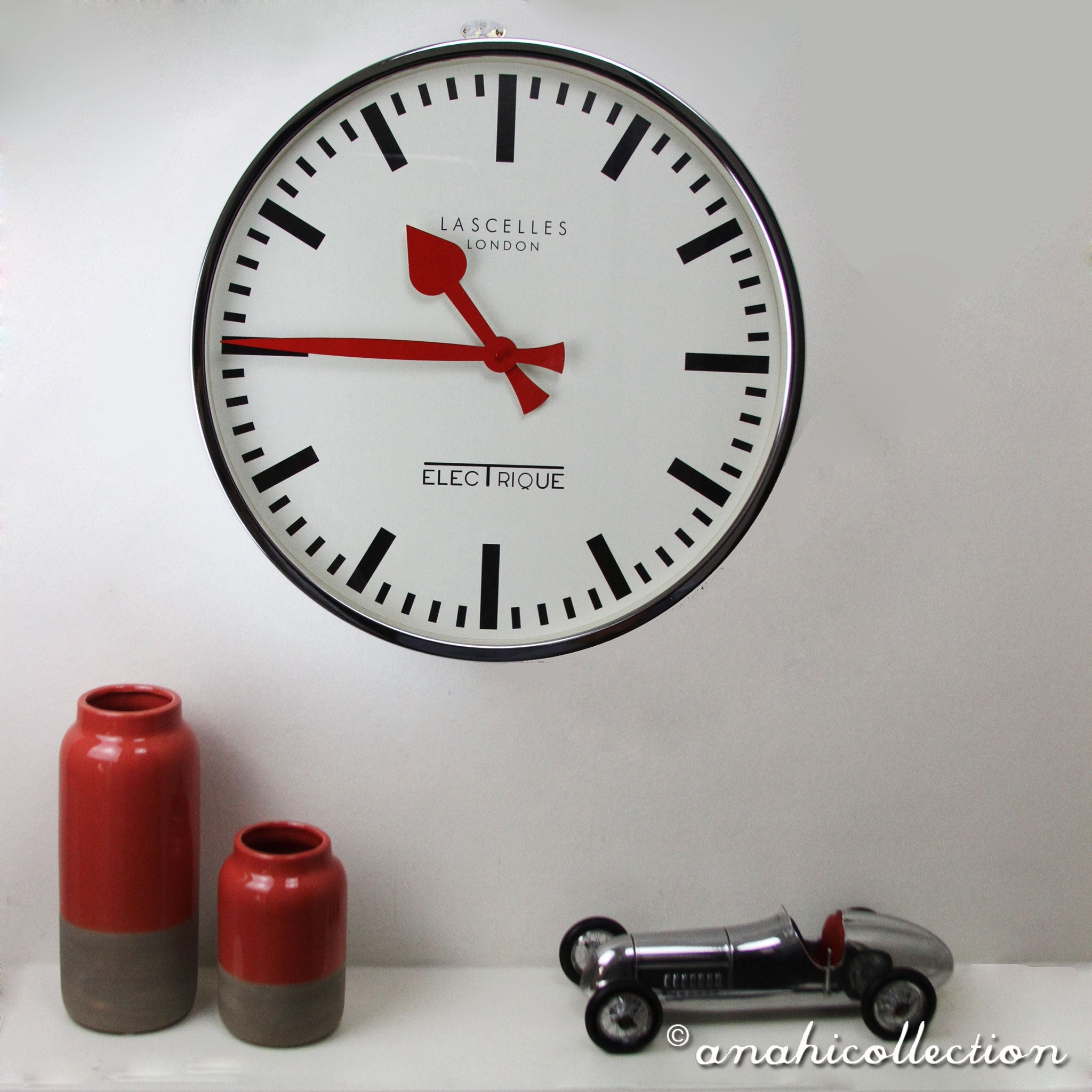 Electrique Chrome Clock