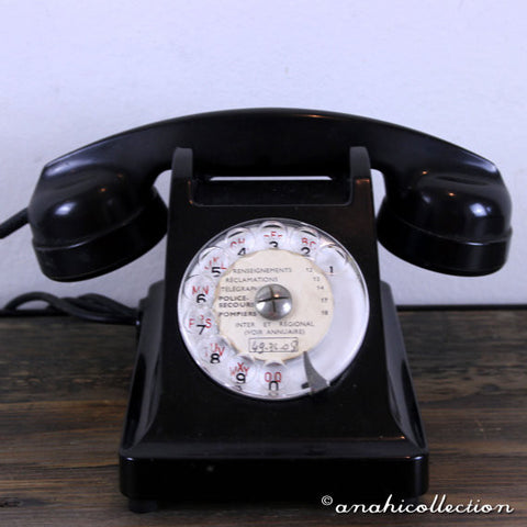 1960's Black French Telephone