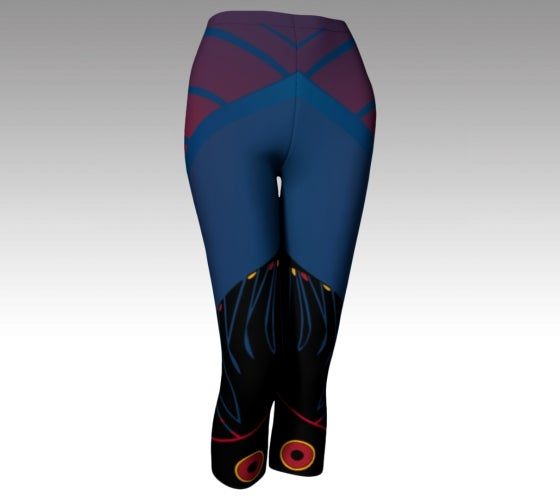 Artfitted, Nite Life, Athletic, capris, made in Canada, spandex, compression, performance fabric, ecopoly, sports, fashion, style, all body shapes, artist inspired