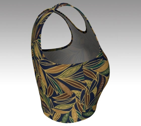 athletic, crop top, made in Canada, workout, dance, yoga, active wear, spandex, artist inspired, safari