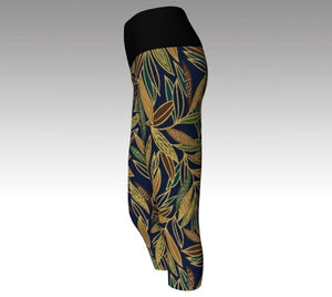 Yoga, capris, made in Canada, spandex, compression, performance fabric, ecopoly, sports, fashion, style, all body shapes, artist inspired