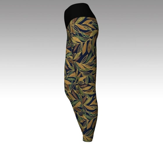 Yoga, leggings, made in Canada, spandex, compression, performance fabric, ecopoly, sports, fashion, style, all body shapes, artist inspired, safari