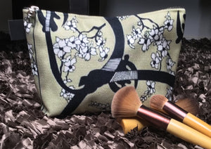 Artfitted, makeup bag, gye nyame, west Africa, cherry, blossom, Japanese, culture, accessories, adinkra