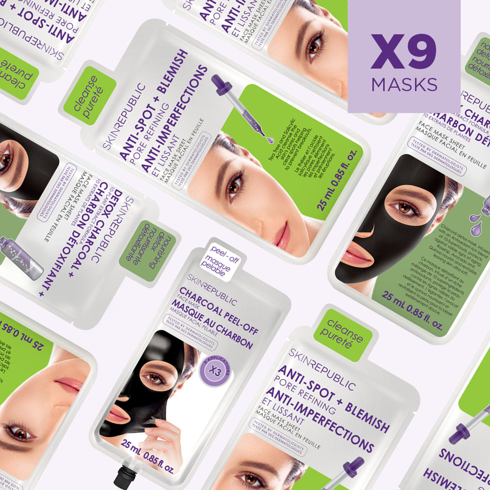 Clean Skin 1 Month Masking Bundle (9 Mask Bundle)