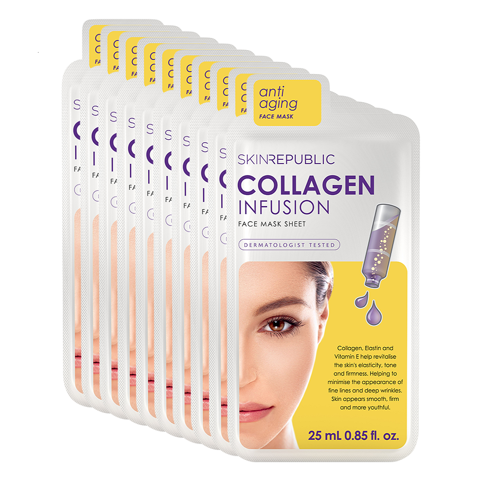 Collagen Infusion Face Mask Sheet - 10 Pack