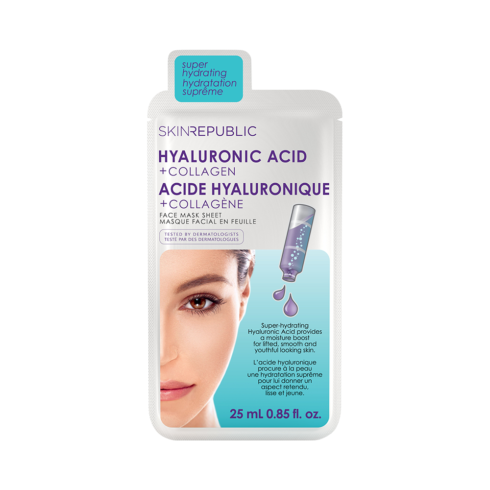 Hyaluronic Acid + Collagen Face Mask Sheet