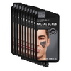 Facial Scrub + Charcoal for Men (5 Applications) - 10 Pack