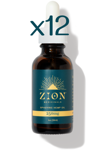 12-Pack 250mg Spagyric Hemp Oil - Zion Medicinals - Organic Spagyric Hemp Products