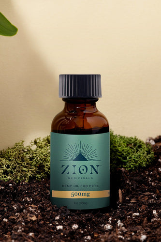 500mg Pet Relief Hemp Oil - Zion Medicinals