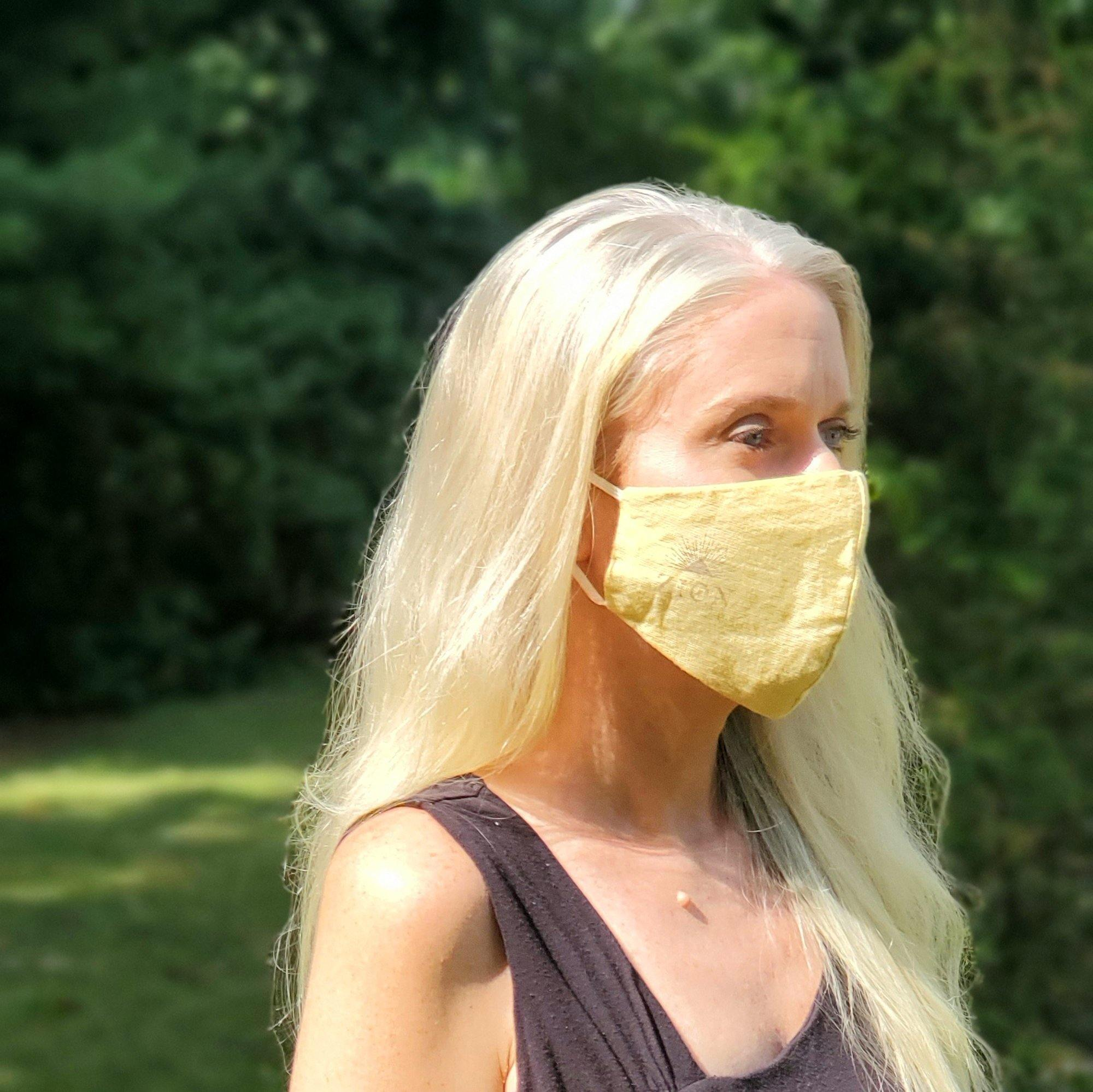 Fitted 3-Ply Hemp Face Mask