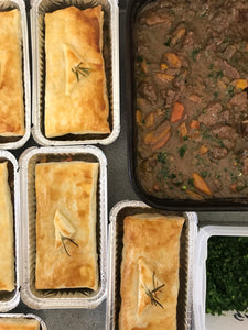 Dell Venison, juniper & gremolata pie