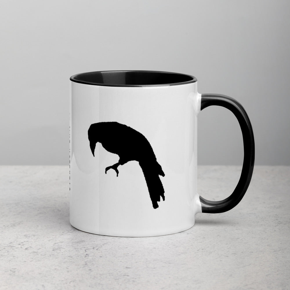 Dark Songs Raven Mug with Color Inside