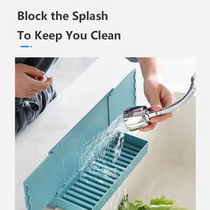 Kitchen Sink Retractable Water Baffle Sponge Holder